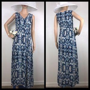 World Market Aztec Tie Dye Watercolor Dress